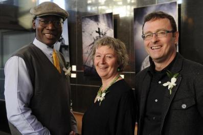 Les premiers prix littéraires ont été remis à Isidore Guy Makaya, Monique Letarte et Alain-Bernard Marchand. PHOTO: BERNARD BRAULT, LA PRESSE