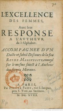 « L'excellence des femmes », de Marguerite de Valois (1553-1615)