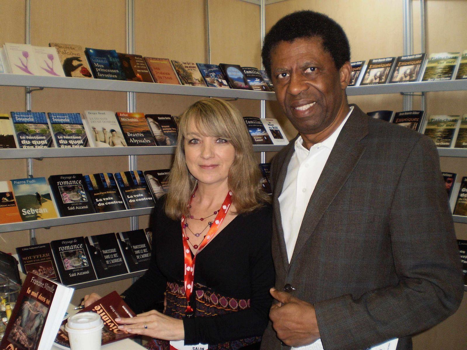 Francine Minville et Dany Laferrière au Salon du livre de Trois-Rivières